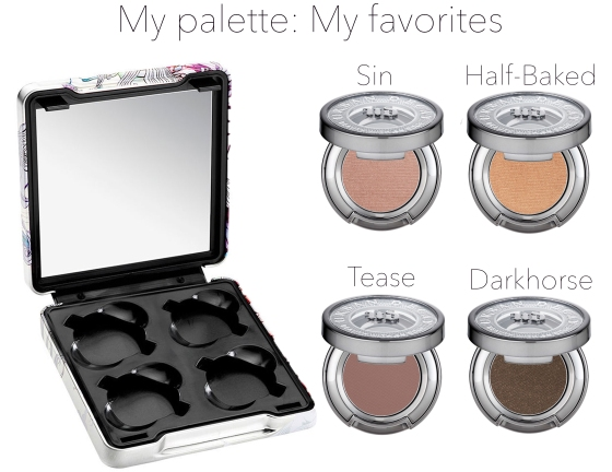 My palette-My favorites