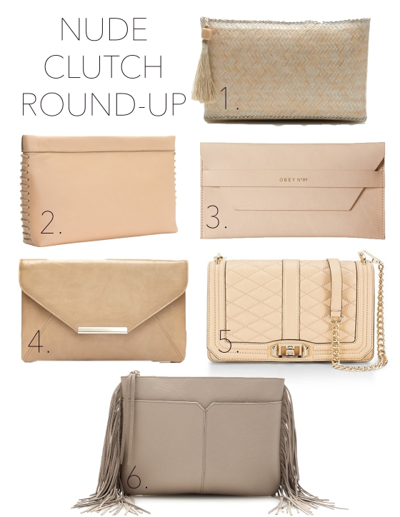 Nude clutch round-up